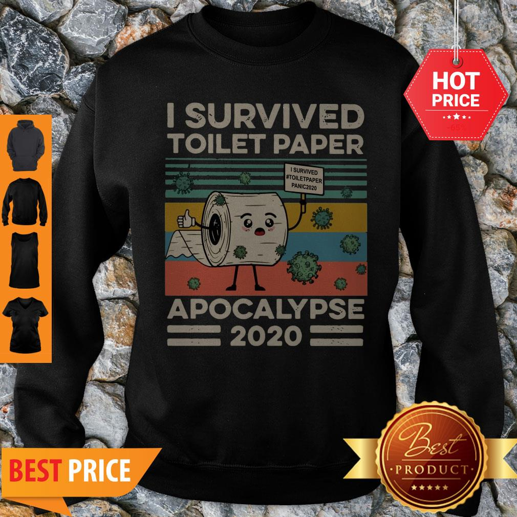 Covid 19 I Survived The Great Toilet Paper Apocalypse 2020 Vintage Sweatshirt