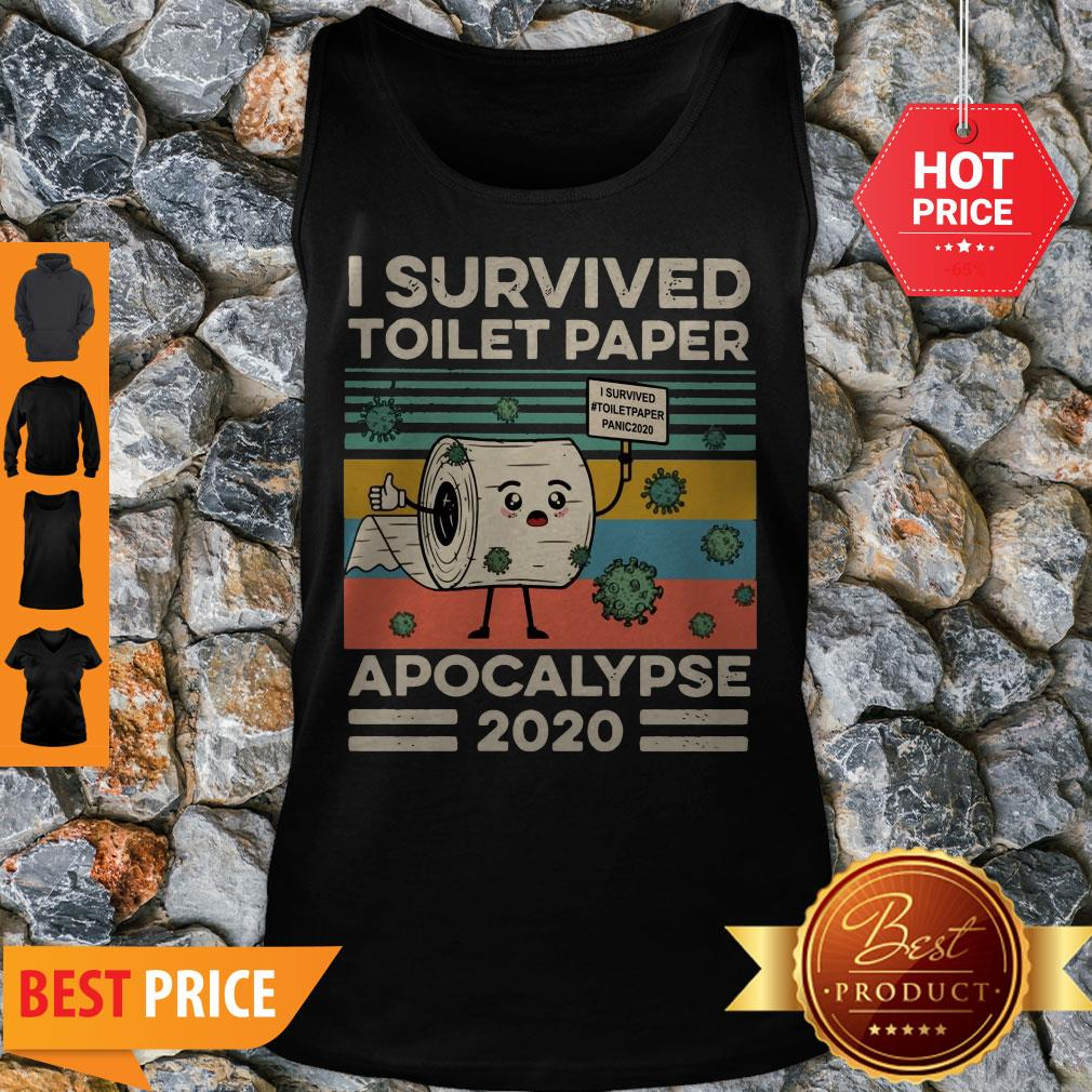 Covid 19 I Survived The Great Toilet Paper Apocalypse 2020 Vintage Tank Top
