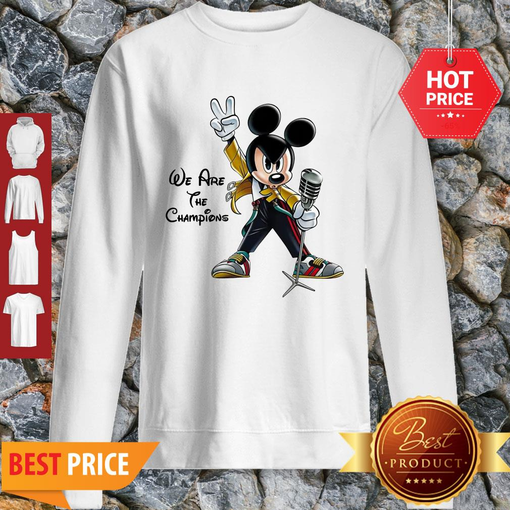 We Are The Champions Queen Mickey Freddie Mercury Sweatshirt