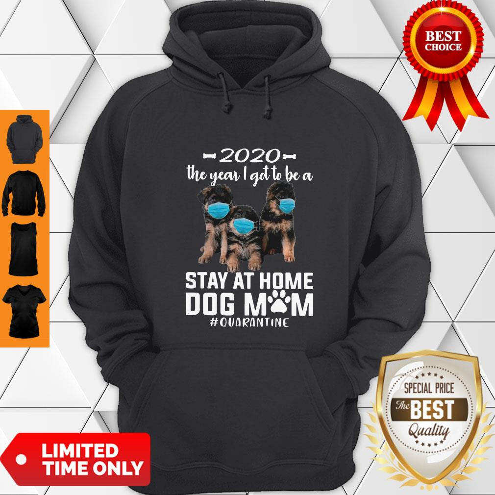 Nice 2020 The Year I Got To Be A Stay At Home Companion Dog Mom Quarantine Hoodie