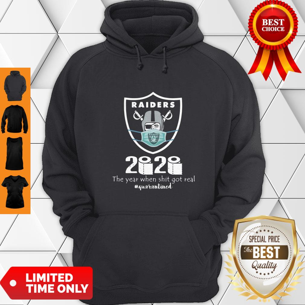 Awesome Mask Raiders 2020 The Year When Shit Got Real Hoodie