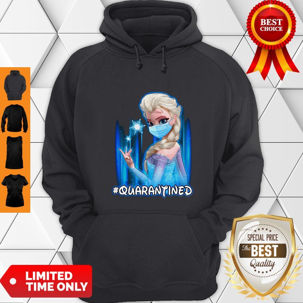 Top Mask Princess Elsa Quarantined Hoodie