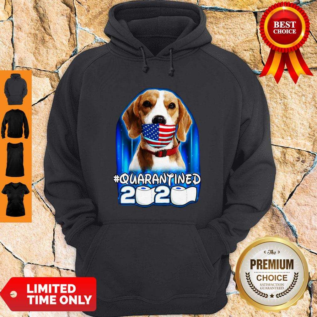 Funny Beagle Face Mask American Flag Quarantined 2020 Toilet Paper Hoodie