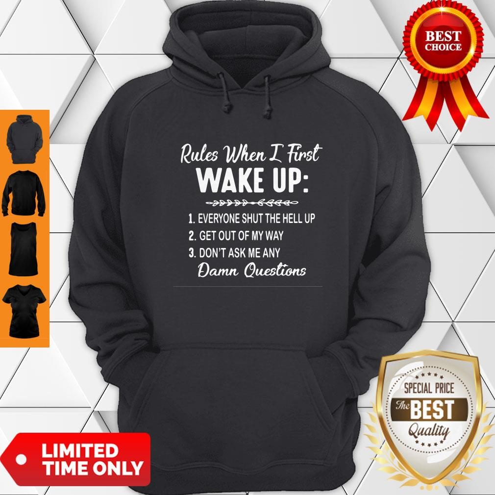 Nice Rules When I First Wake Up Don't Ask Me Any Damn Questions Hoodie
