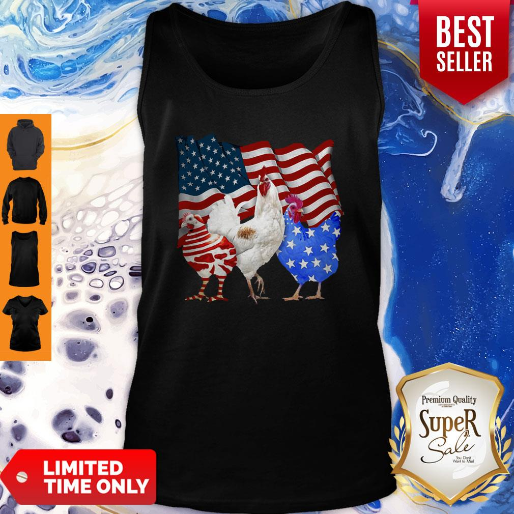 Premium Chicken American Flag Tank Top - Design By Earstees.com