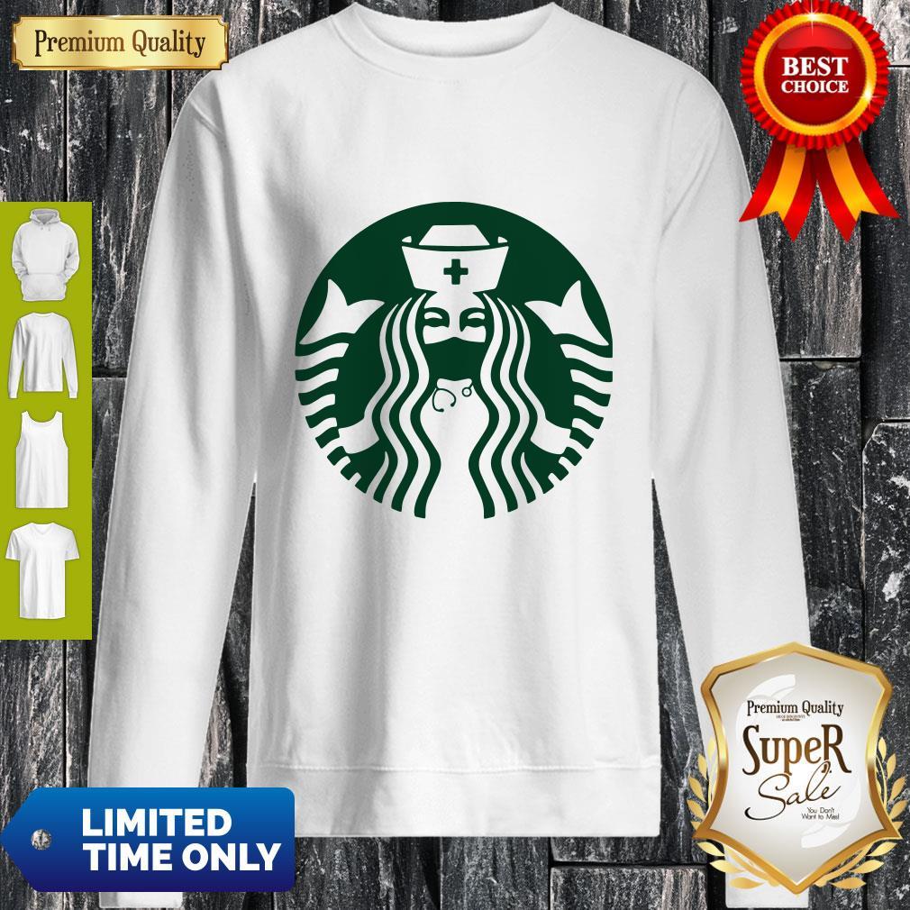 Premium Starbuck Coffee Mask Nurse Sweatshirt
