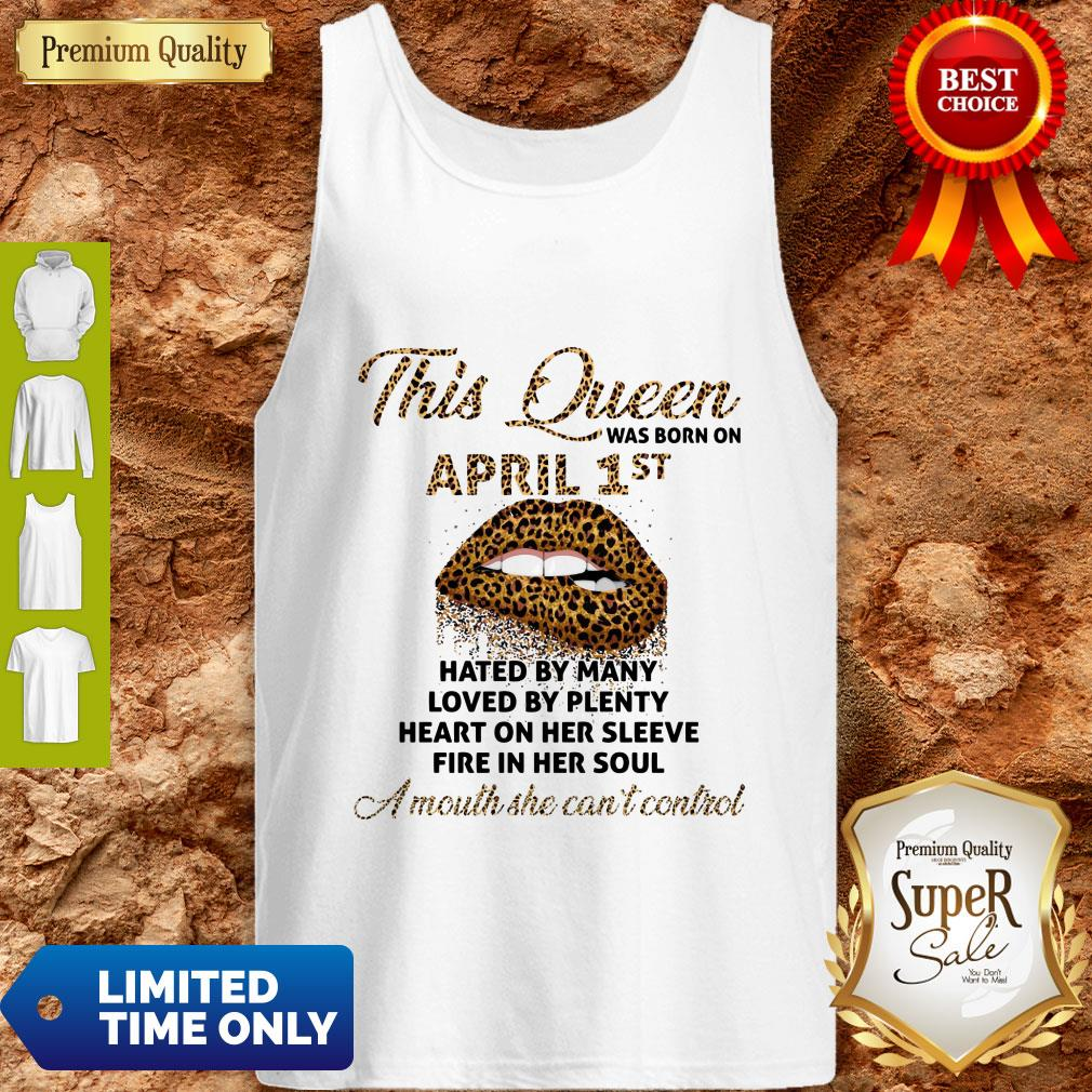Funny This Queen Was Born On May 1st Hated By Many Loved By Plenty Lips Leopard Tank Top