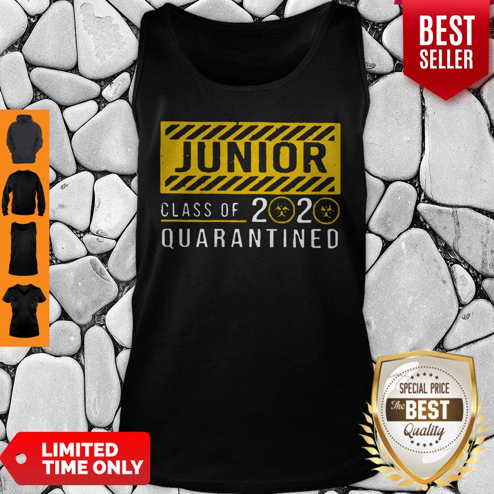 Funny Junior Class Of The Quarantined 2020 Sign Tank Top