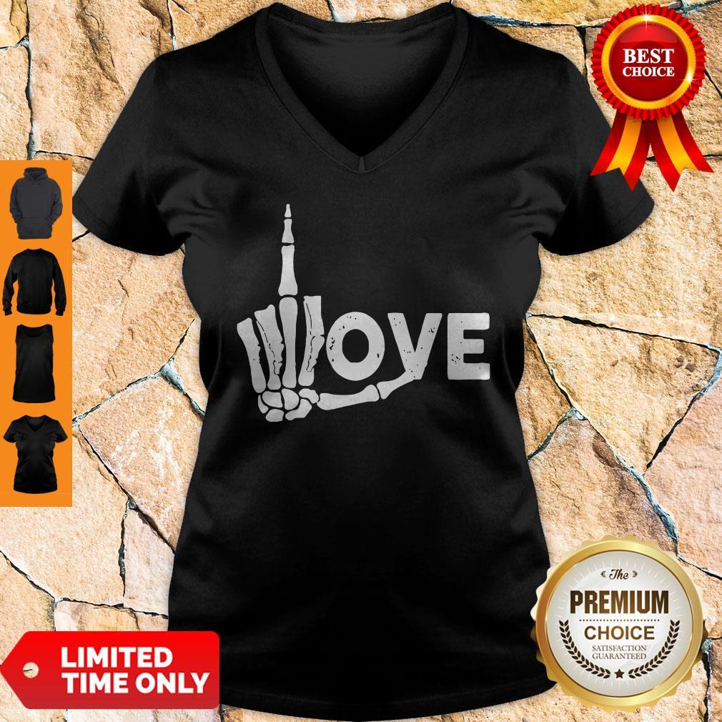 Premium Skeleton Fuck Love V-neck