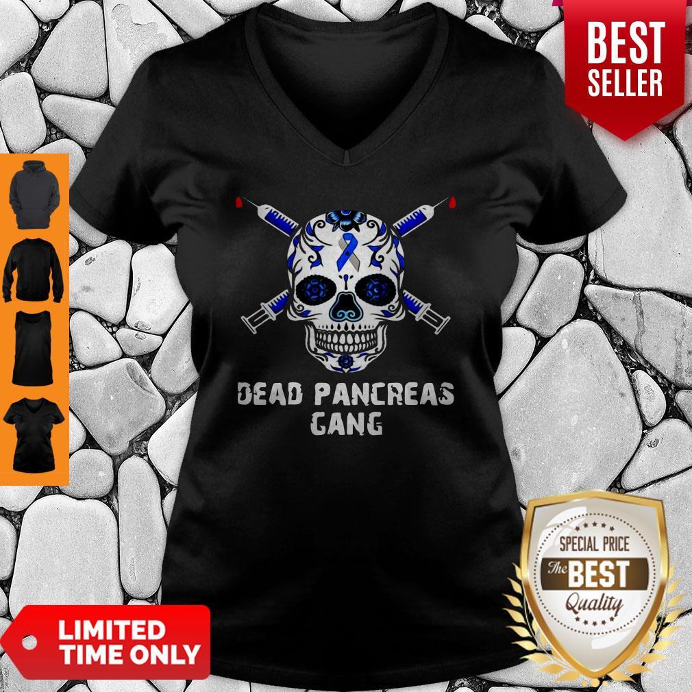 Premium Diabetes Skull Dead Pancreas Gang V-neck