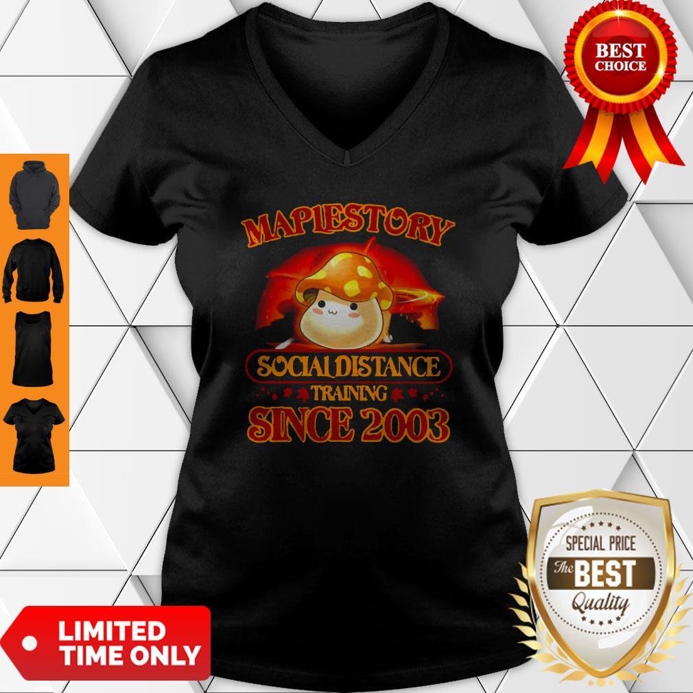 Premium Maplestory Social Distancing Training Since 2003 Coronavirus V-neck