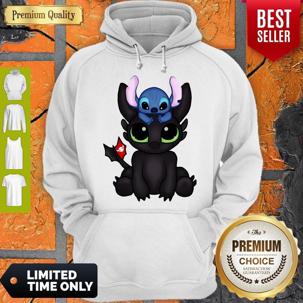 Awesome Baby Toothless Dragon And Stitch Flag Hoodie