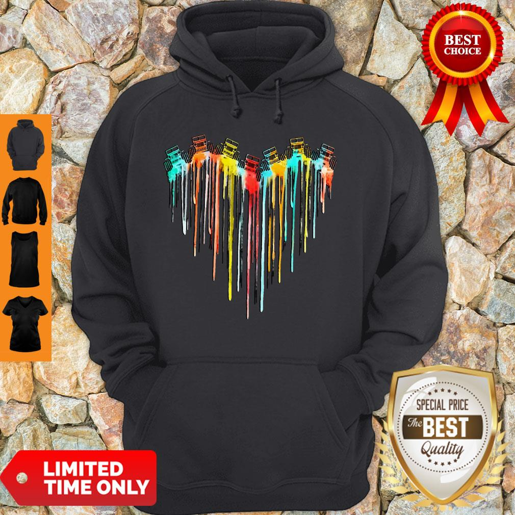 Awesome Colorful Dripping Heart Jeep Hoodie