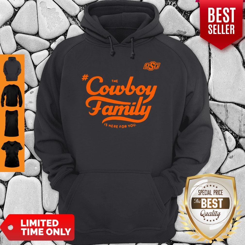 Awesome Osu The Cowboy Family Is Here For You Hoodie