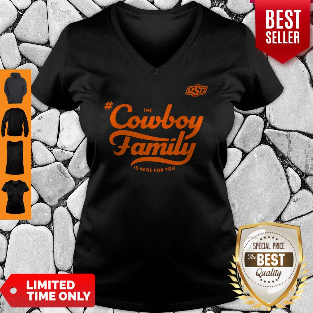 Awesome Osu The Cowboy Family Is Here For You V-neck