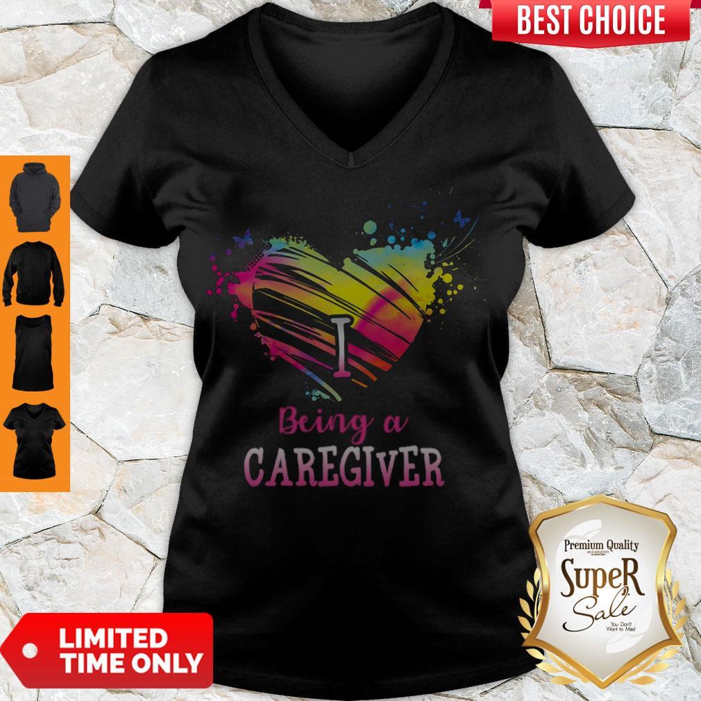 Good Heart I Being A Caregiver V-neck
