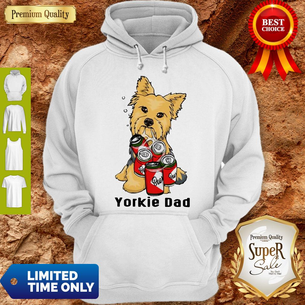Premium Yorkie Dad And Beer Hoodie