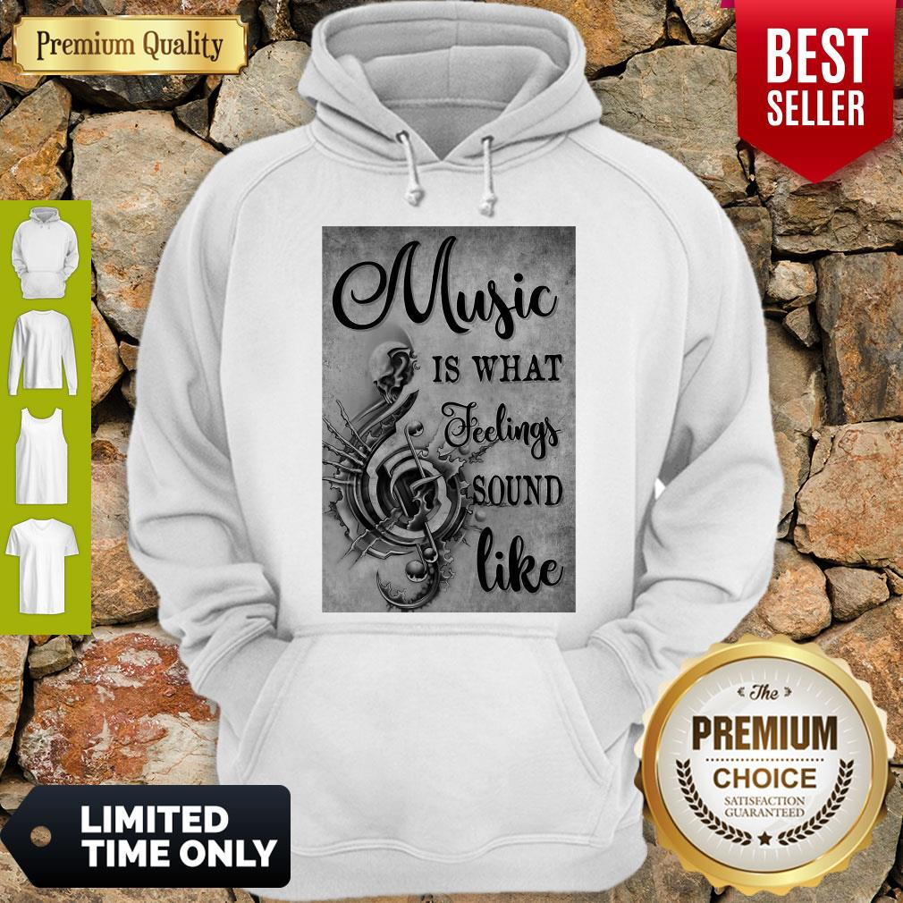 Awesome Music Is What Feeling Sound Like Vertical Poster Hoodie