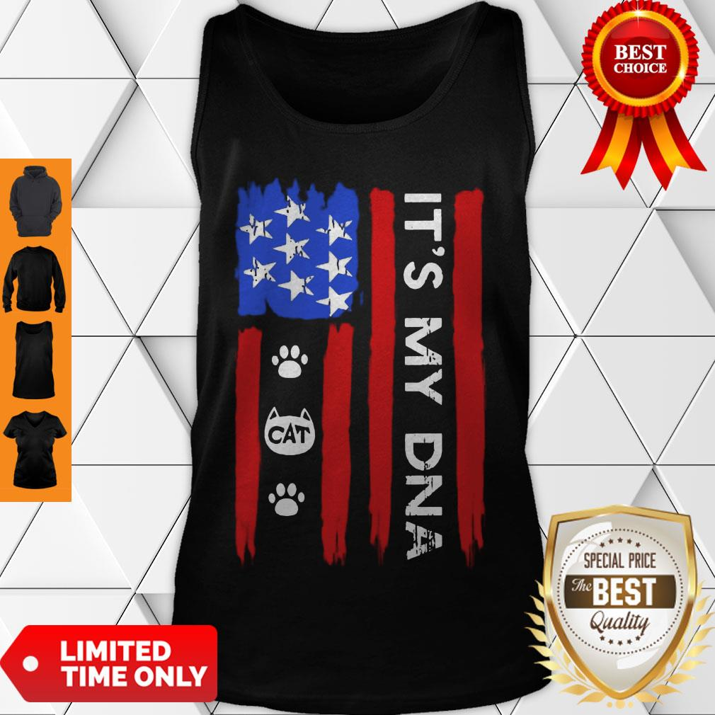 Hot Independence Day Its My DNA Cat Paw Tank Top