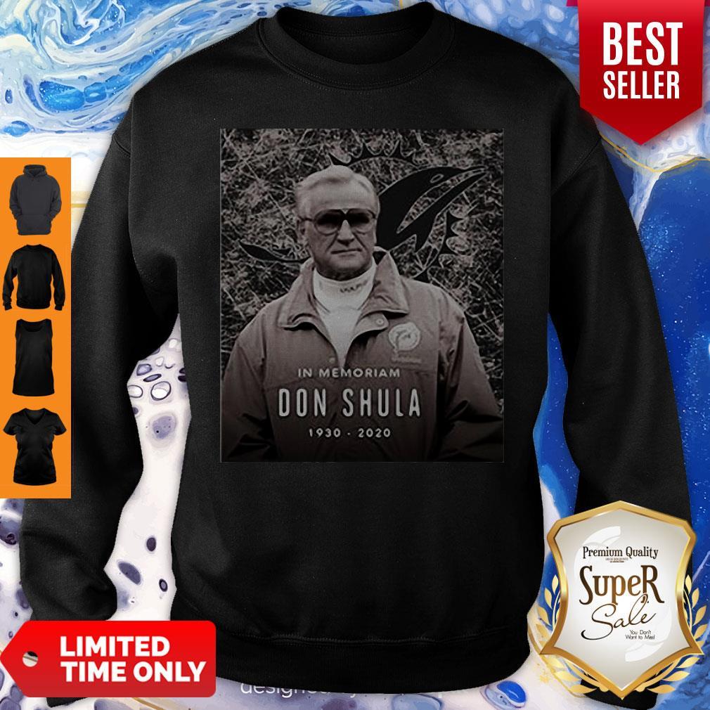 Top Miami Dolphins In Memoriam Don Shula 1930 2020 Signature Sweatshirt