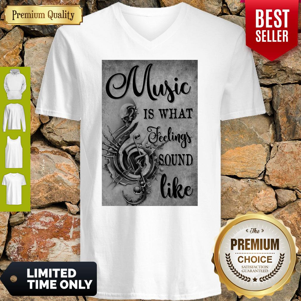 Awesome Music Is What Feeling Sound Like Vertical Poster V-neck