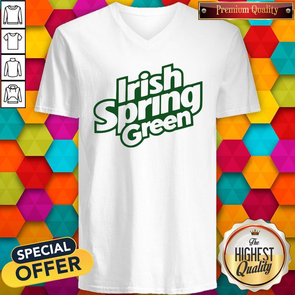Awesome Irish Spring Green V-neck
