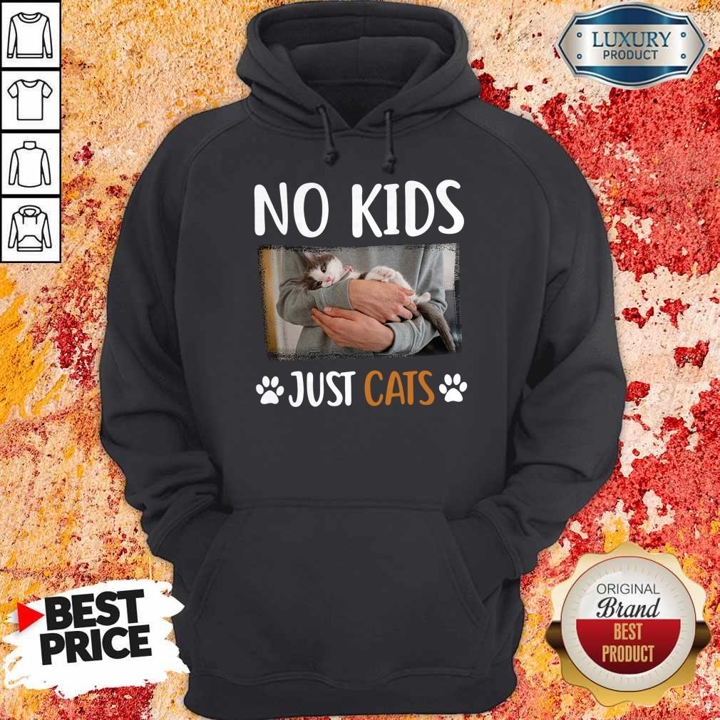 Funny No Kids Just Paw Cats Hoodie