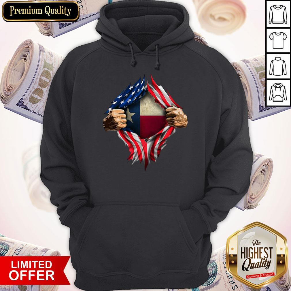 Perfect American Flag Texas Proud Inside Me Hoodie