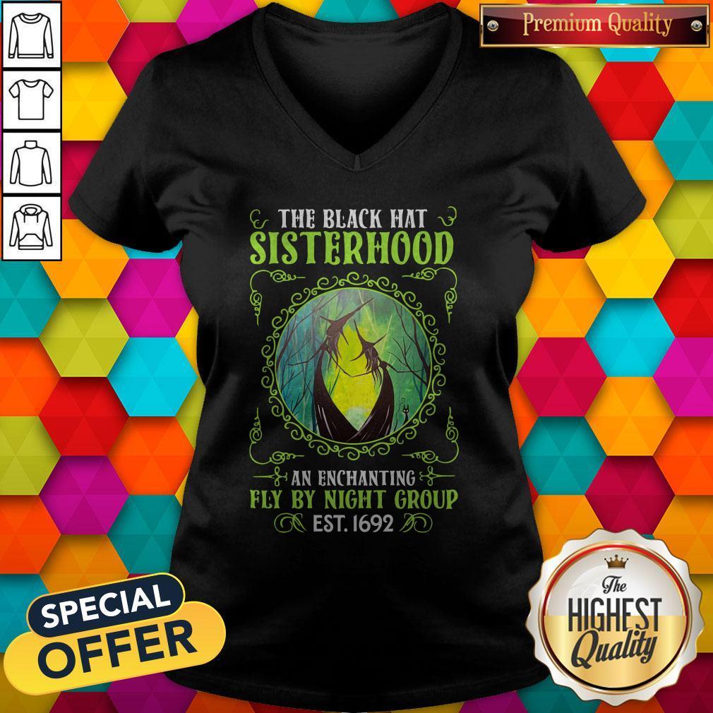 Premium The Black Hat Sisterhood Fly By Night Group Est Classic V-neck