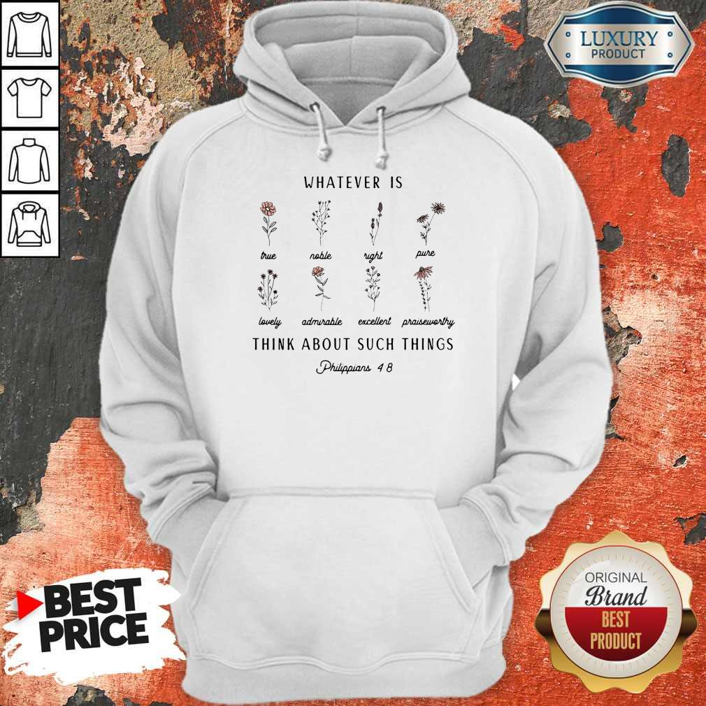 Premium Whatever Is Think About Such Things Hoodie