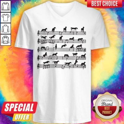 Awesome Horse Notes On Sheet Music V-neck - Design By Earstees.com