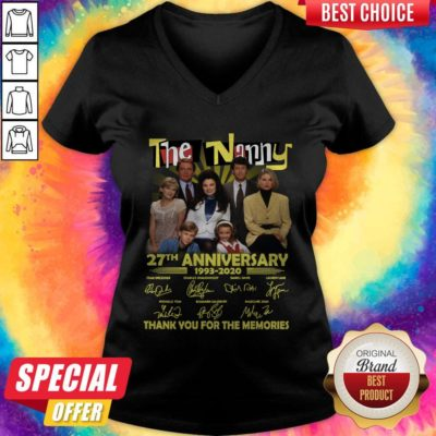 Good The Nanny 27th Anniversary 1993 2020 Thank You For The Memories Signatures V-neck - Design By Earstees.com