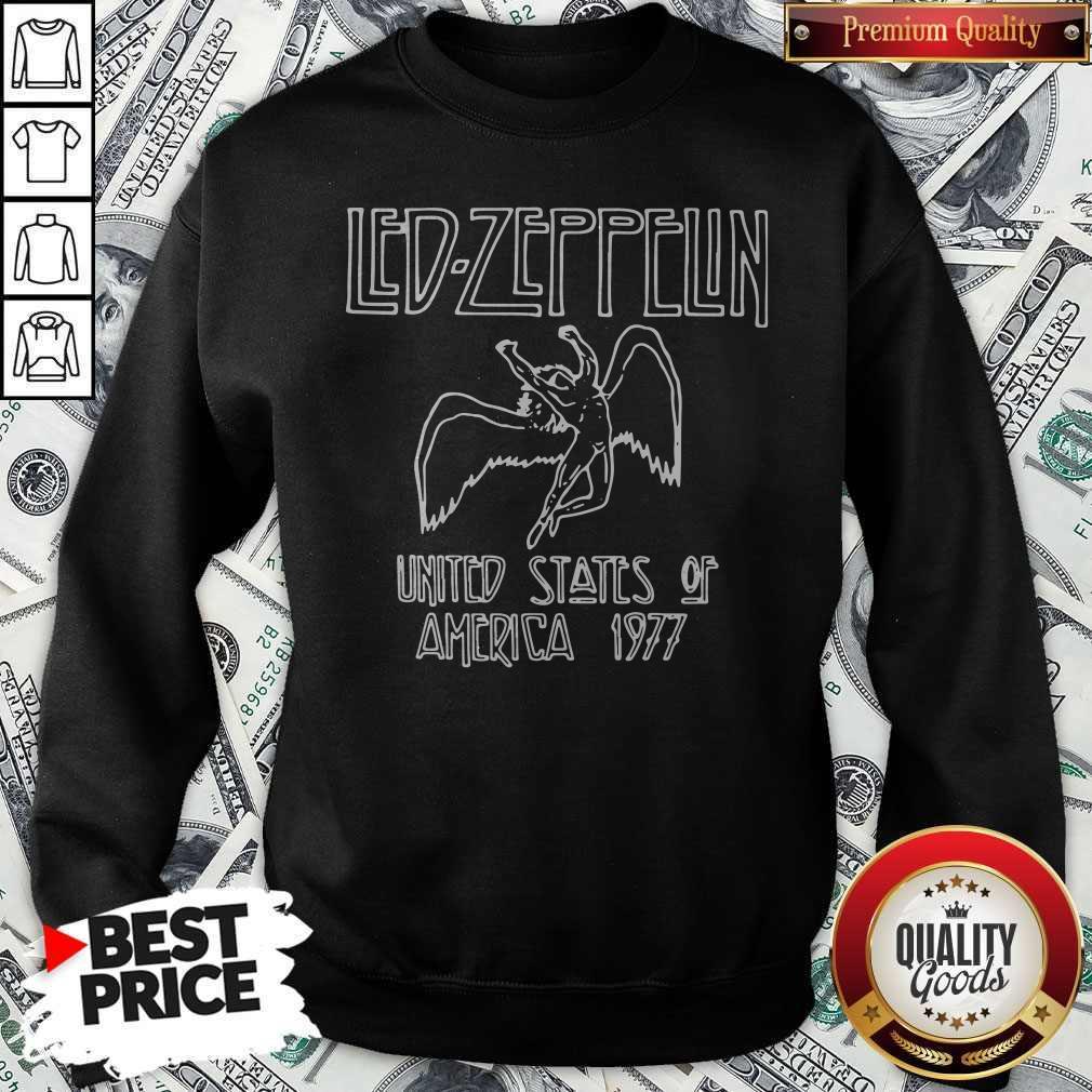 Nice Led Zeppelin United States Of America 1977 Sweatshirt