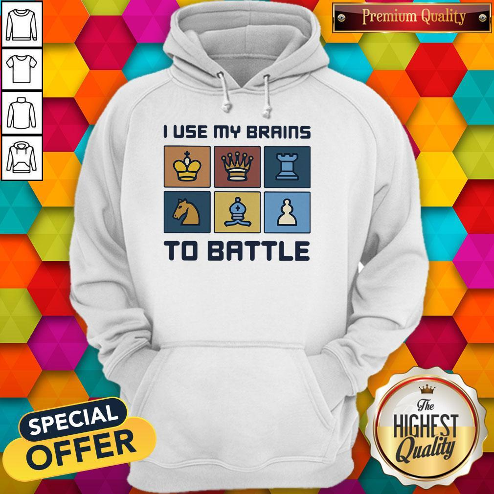 Official I Use My Brains To Battle Chess Vintage Retro Hoodie
