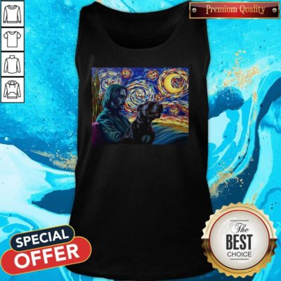 Official John Wick With Dog Art Tank Top - Design By Earstees.com