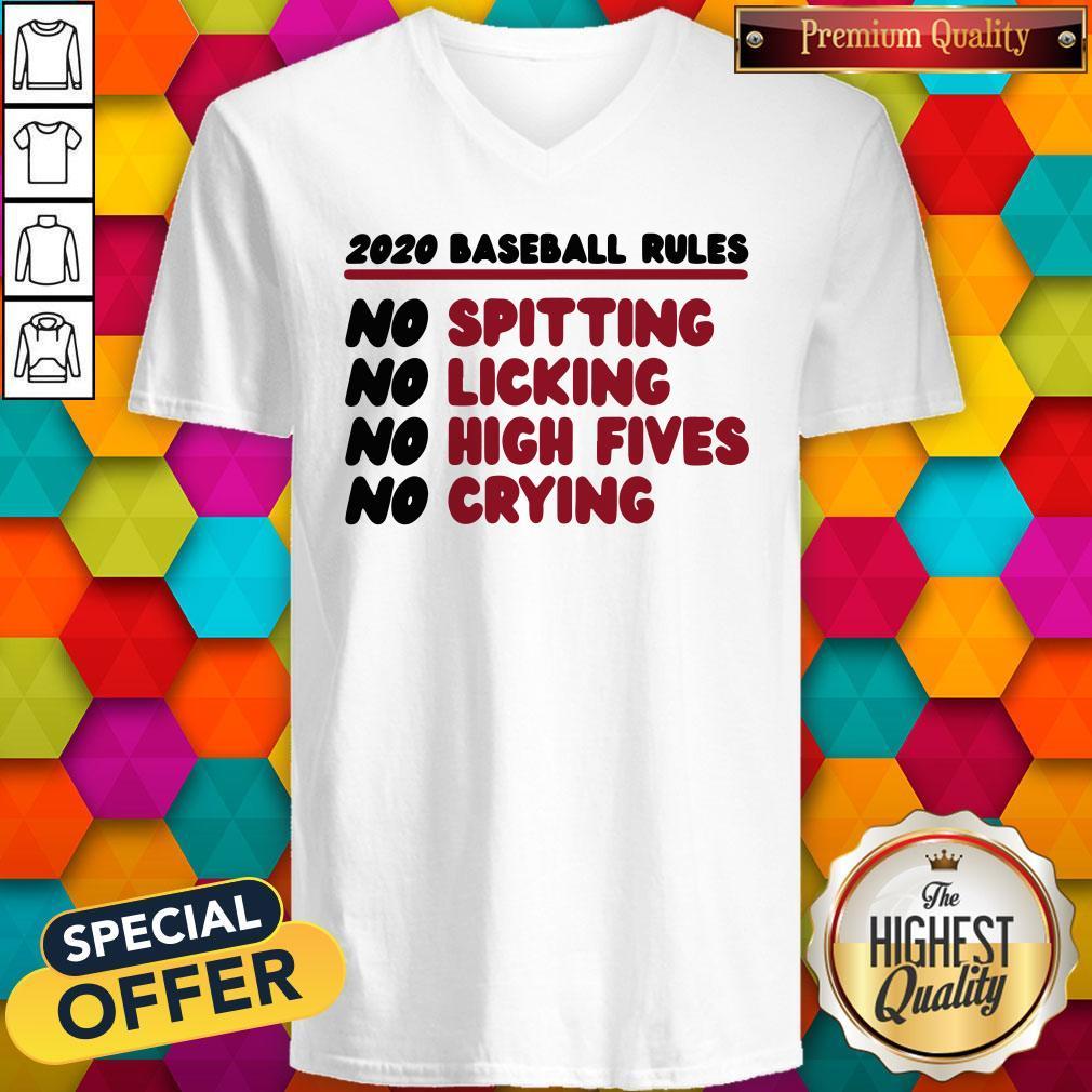 Original 2020 Baseball Rules V-neck