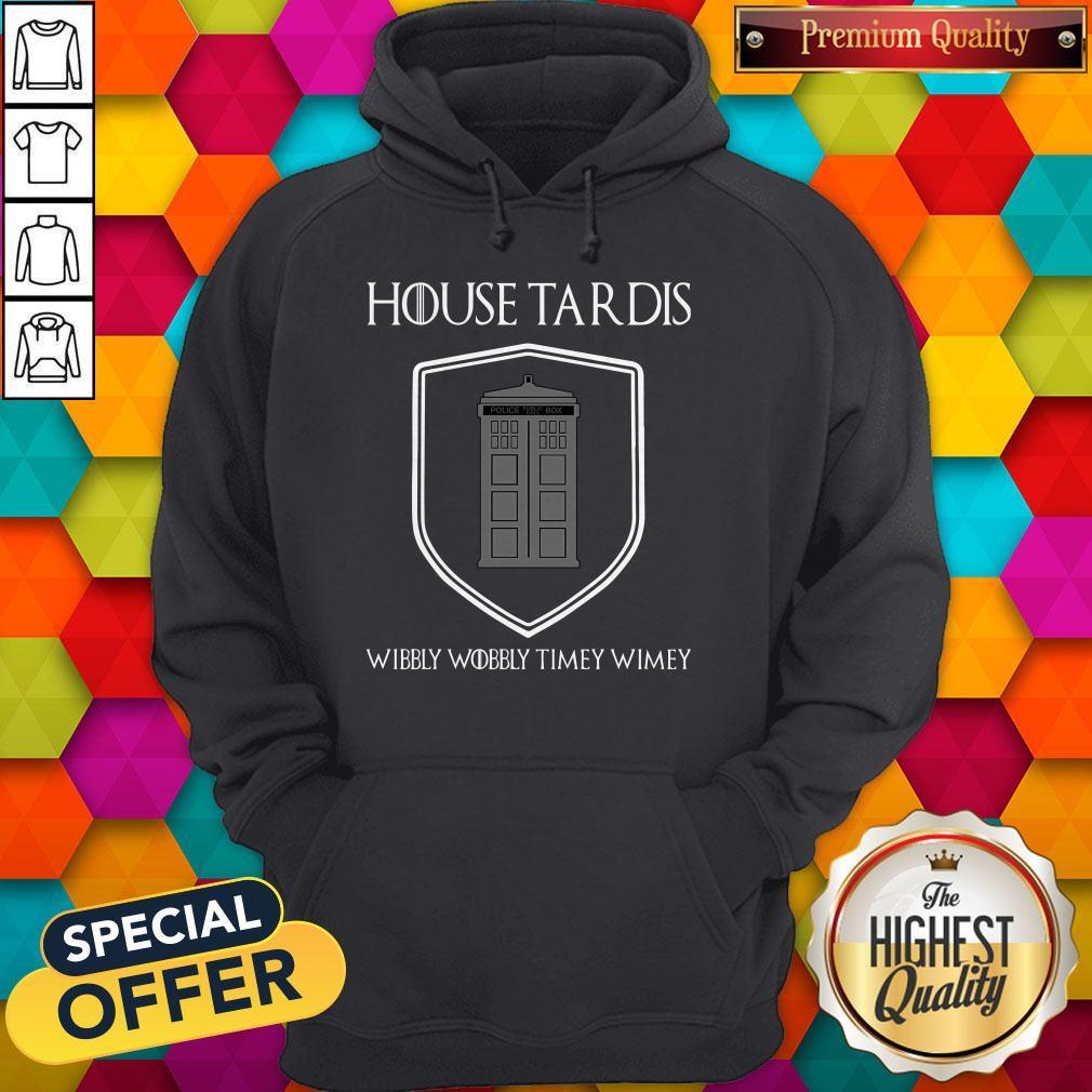 Premium Nice House Tardis Wibbly Wobbly Timey Wimey Got Hoodie
