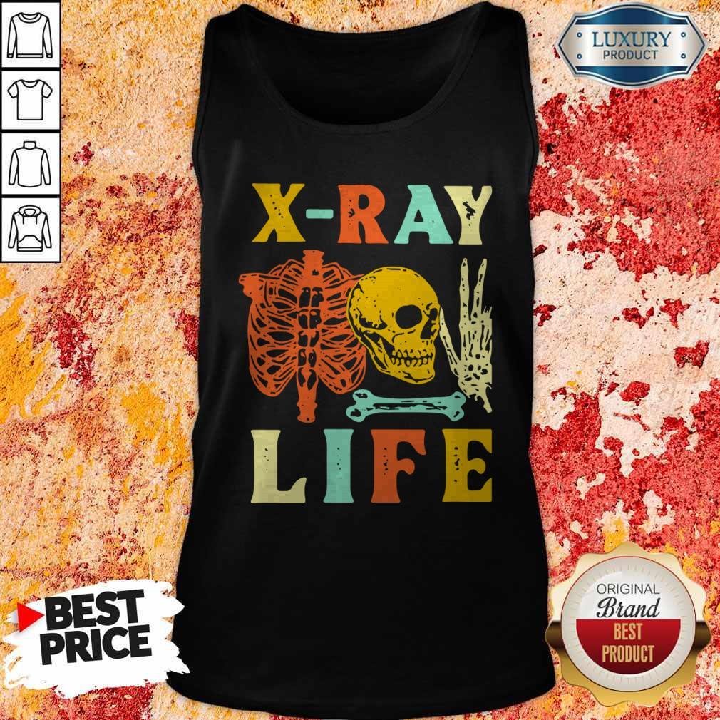 Premium Skeleton X-ray Life Vintage Tank Top