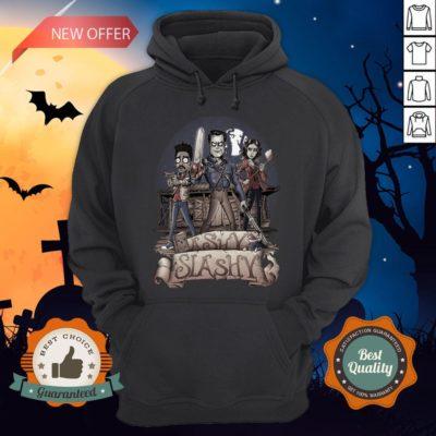 Ashy Siashy Wood House Lady And Man Moonlight Halloween Hoodie - Design By Earstees.com