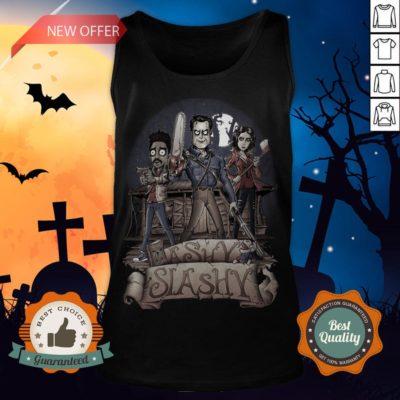 Ashy Siashy Wood House Lady And Man Moonlight Halloween Tank Top - Design By Earstees.com