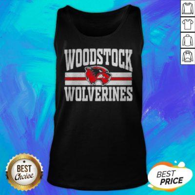 Top Woodstock High School Wolverines Logo Tank Top - Design By Earstees.com