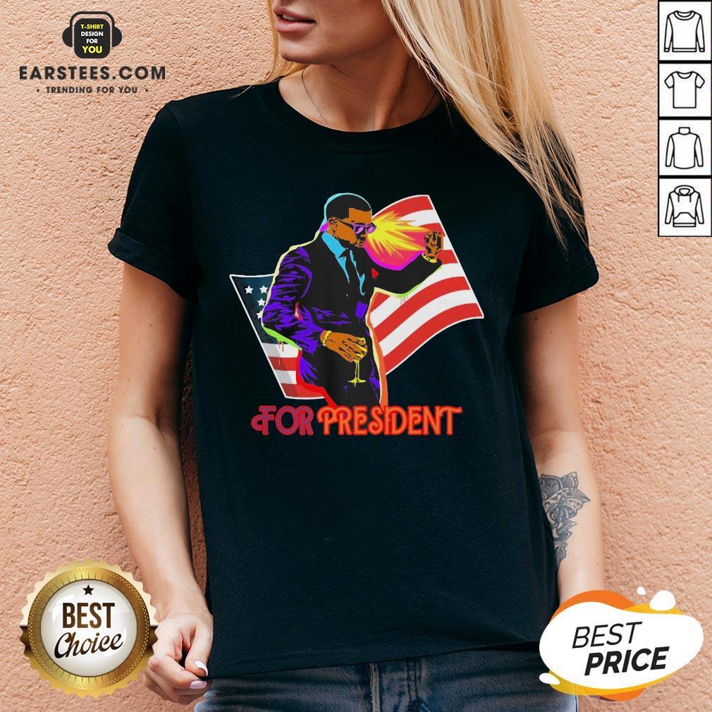 Awesome Joe Biden For President American Flag Election V-neck - Design By Earstees.com