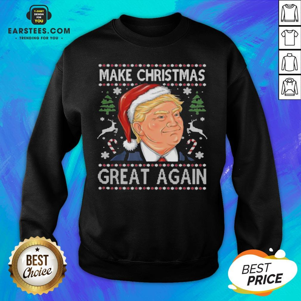 Awesome Trump Make Christmas Great Again Funny Ugly Christmas Sweatshirt- Design By Eerstees.com
