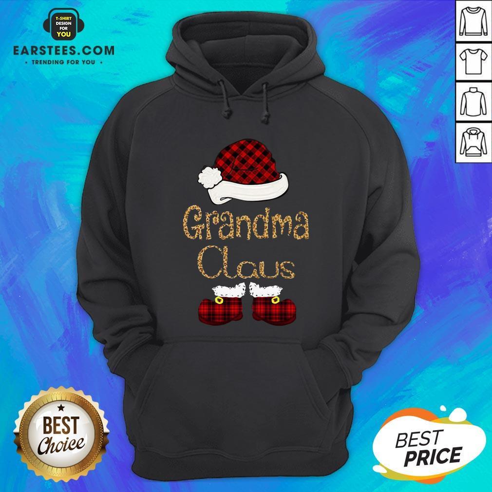 Funny Grandma Claus Christmas Hoodie - Design By Earstees.com