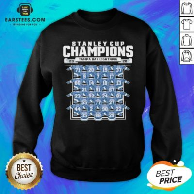 Good Tampa Bay Lightning 2020 Stanley Cup Champions Roster Sweatshirt - Design By Earstees.com