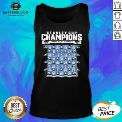 Good Tampa Bay Lightning 2020 Stanley Cup Champions Roster Tank Top - Design By Earstees.com