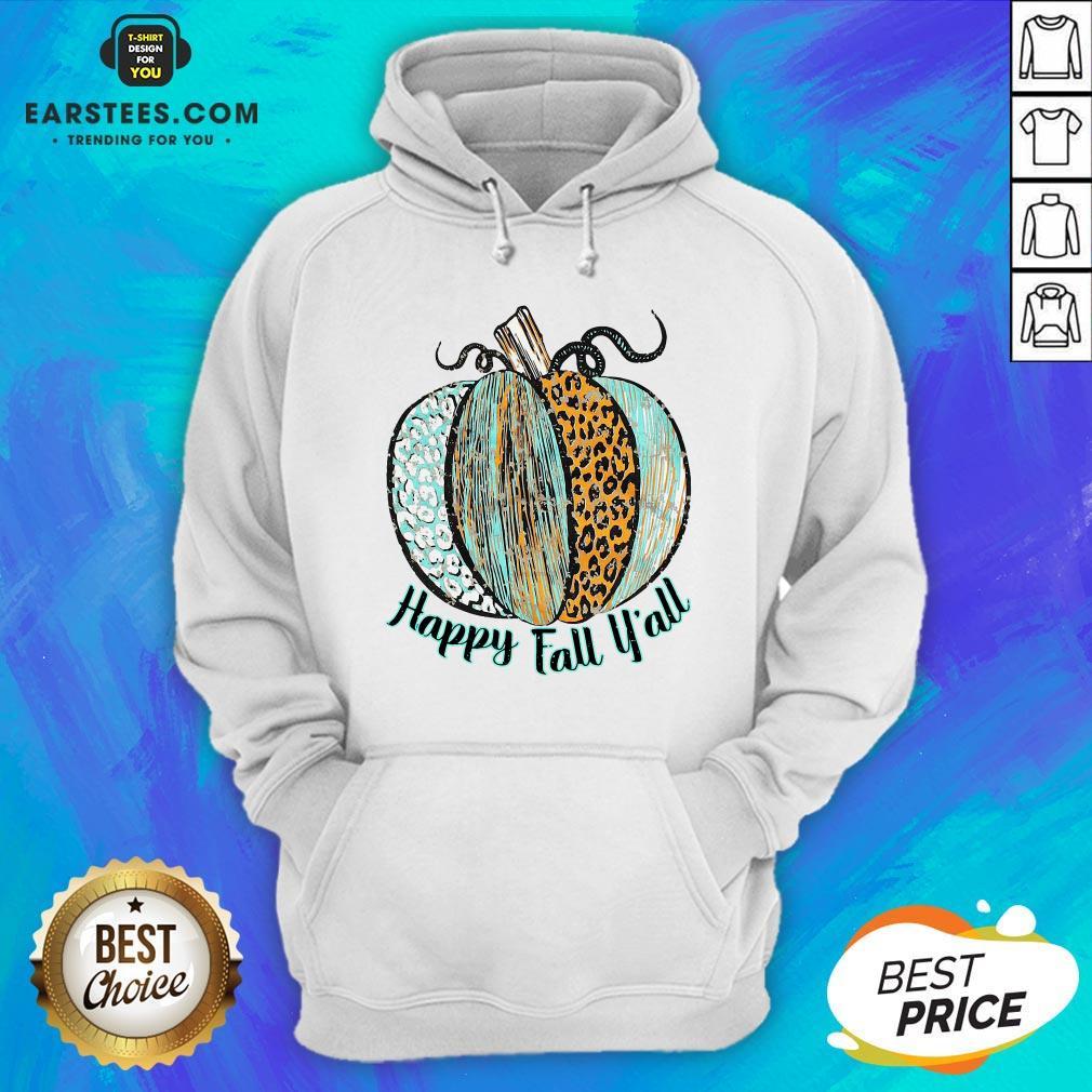 Nice Happy Fall Leopard Pumpkin Hoodie - Design By Earstees.com