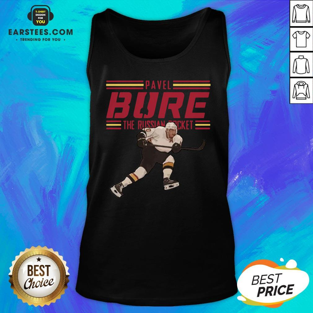 Nice Pavel Bure The Russian Rocket Play Tank Top - Design By Earstees.com