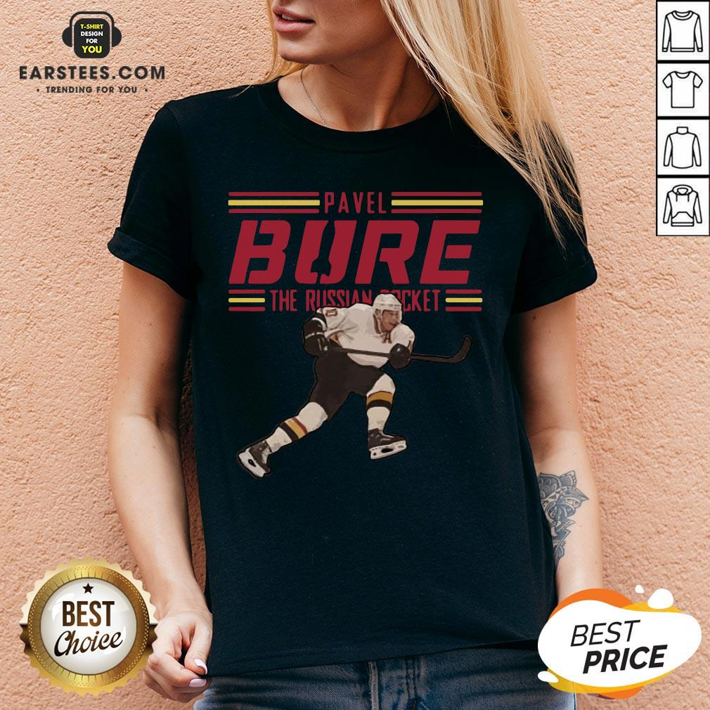 Nice Pavel Bure The Russian Rocket Play V-neck - Design By Earstees.com