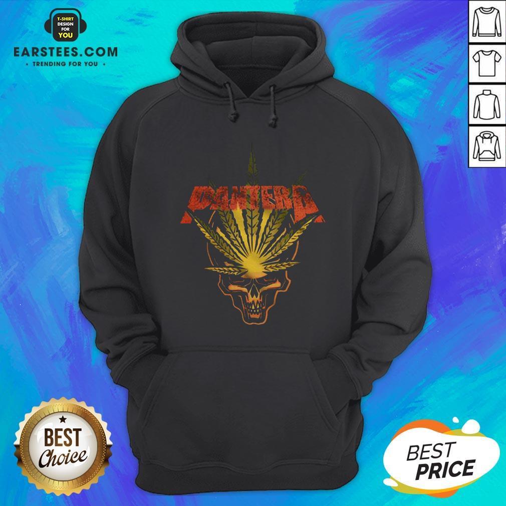 Official Pantera Weed Leaf Skull Hoodie - Design By Earstees.com